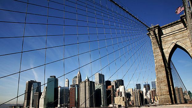 The Brooklyn Bridge in New York.