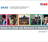 Flyer for Grants for Study and Research in Germany by the DAAD.