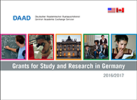 Cover of a flyer of DAAD grants.
