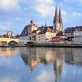 The Stone Bridge and the Cathedral of Regensburg.