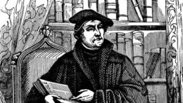 A black and white image depicting Martin Luther.