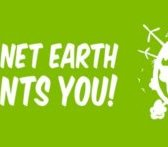 "Banner with the label ""Planet earth wants you!"""